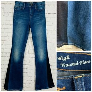 HENRY & BELLE 2 Tone High Waisted Flare Jean 26